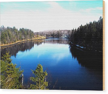 Wood Print featuring the photograph River Ryan by Jason Lees