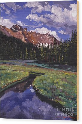 River Valley Wood Print by David Lloyd Glover