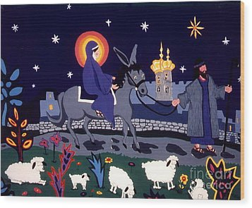 Road To Bethlehem Wood Print