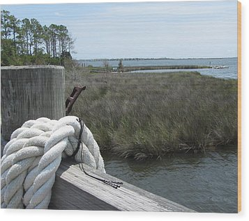 Wood Print featuring the photograph Roanoke Rope 2 by Cathy Lindsey
