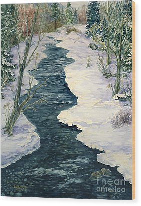 Rock Creek Winter Wood Print