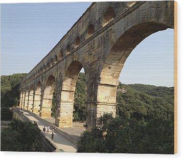 Roman Aqueduct Wood Print by Pema Hou