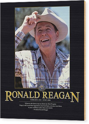 Ronald Reagan Wood Print by Retro Images Archive