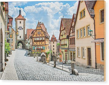 Rothenburg Ob Der Tauber Wood Print