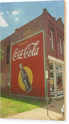 Route 66 - Coca Cola Ghost Mural Wood Print