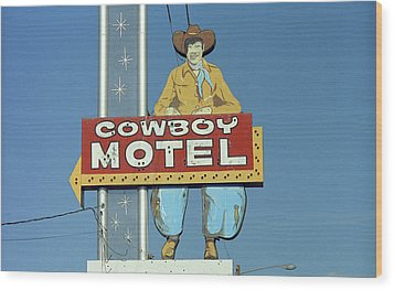 Route 66 - Cowboy Motel Wood Print