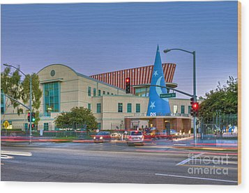 Roy E. Disney Animation Building In Burbank Ca. Wood Print by David Zanzinger
