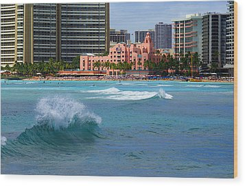 Royal Hawaiian Hotel Wood Print by Kevin Smith