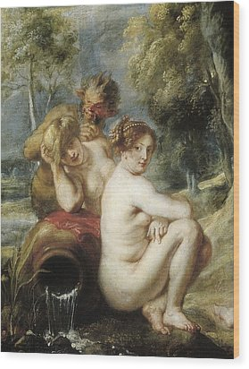 Rubens, Peter Paul 1577-1640. Nymphs Wood Print by Everett