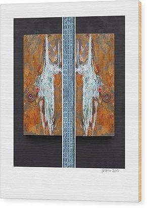 Rust Art 02 Wood Print by Gertrude Scheffler