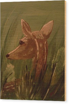 Safe From Harm Wood Print by Renee McKnight