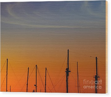 Sailing Boats Wood Print by Stelios Kleanthous