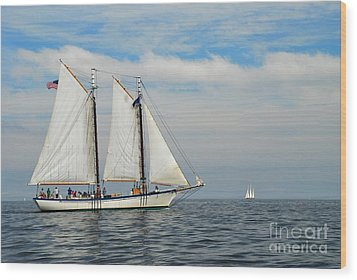 Sailing The Open Seas Wood Print by Allen Beatty