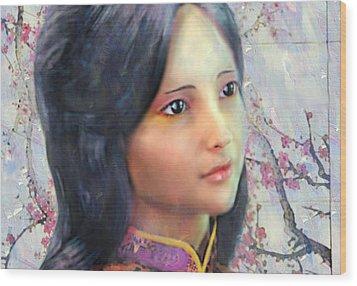 Wood Print featuring the digital art Saint Anna Wang  by Suzanne Silvir