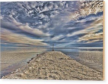 Salt Pier Salton Sea Wood Print