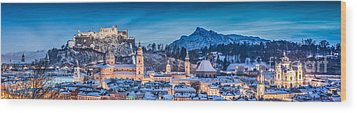 Salzburg Winter Romance Wood Print