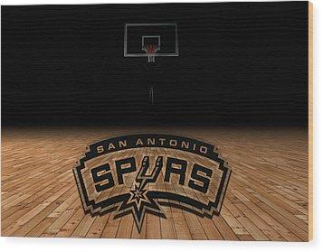 San Antonio Spurs Wood Print by Joe Hamilton