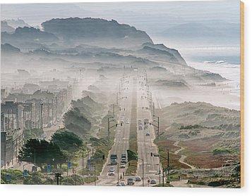 San Francisco Wood Print by David Yu