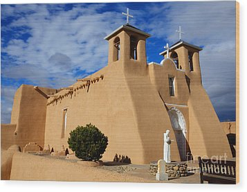 San Francisco De Asis Taos New Mexico 3 Wood Print by Bob Christopher