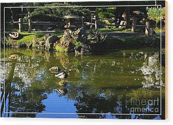 San Francisco Golden Gate Park Japanese Tea Garden 10 Wood Print by Robert Santuci