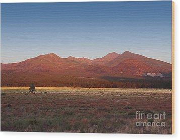 San Francisco Peaks Sunrise Wood Print