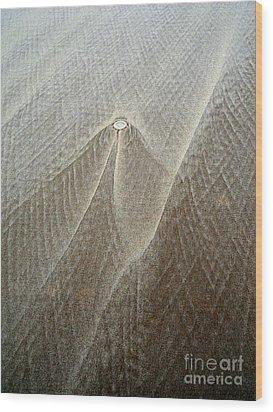 Sand Patterns Wood Print by Robert Riordan