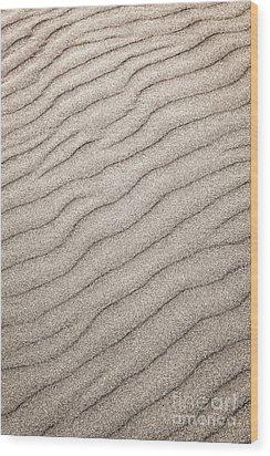 Sand Ripples Abstract Wood Print by Elena Elisseeva