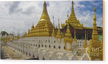 Wood Print featuring the photograph Sandamuni Pagoda Mandalay Burma by Ralph A  Ledergerber-Photography