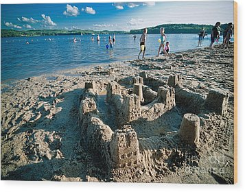 Sandcastle On The Beach Wood Print by Amy Cicconi