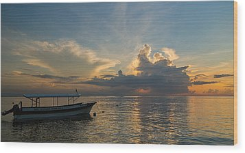 Wood Print featuring the photograph Sanur Beach - Bali by Matthew Onheiber