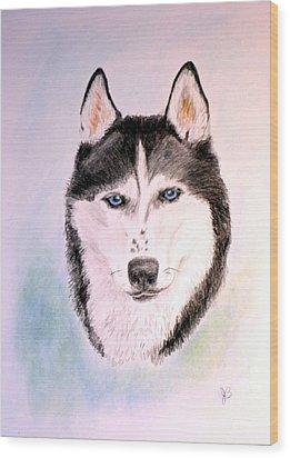 Sasha Wood Print by Jane Baribeau