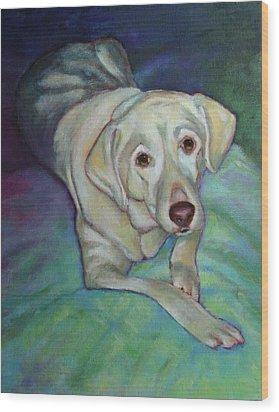Savannah The Dog Wood Print