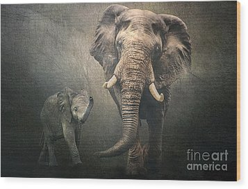 Wood Print featuring the photograph Save The Elephants by Brian Tarr