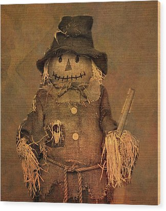 Scarecrow Wood Print by Dan Sproul