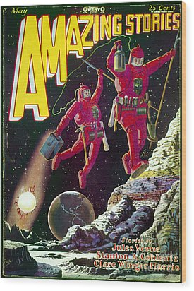 Science Fiction Cover 1929 Wood Print by Granger