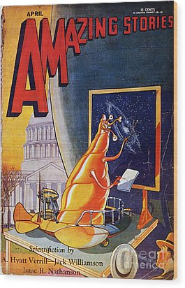 Science Fiction Cover 1930 Wood Print by Granger