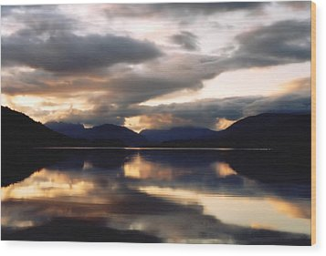 Wood Print featuring the photograph Scottish Loch by Elizabeth Lock