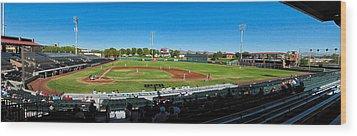 Scottsdale Stadium Wood Print