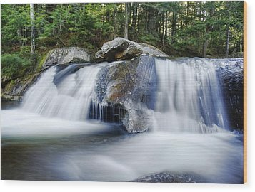 Screw Auger Falls Wood Print