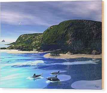 Sea Cave Wood Print by John Pangia