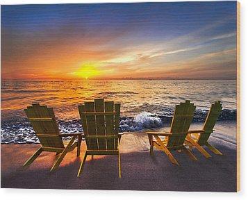 Sea Dreams II Wood Print by Debra and Dave Vanderlaan