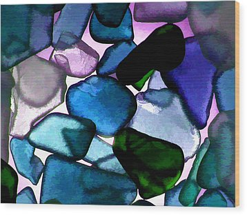 Sea Glass  Wood Print