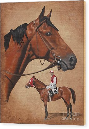 Seabiscuit Wood Print