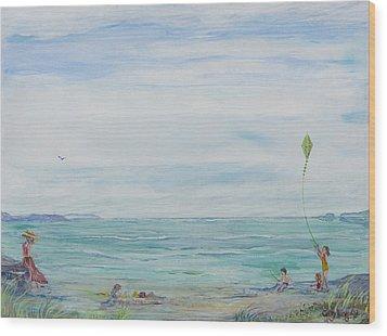 Seabreeze Beach Wood Print