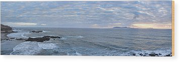 Seascape Wood Print by Hugh Smith