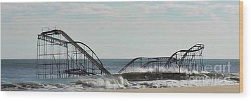 Seaside Heights Roller Coaster  - Paint Wood Print