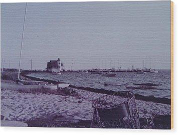 Seaside Park Nj Yacht Club Wood Print by Joann Renner