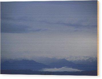 Seattle Blue Wood Print