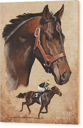 Seattle Slew Wood Print