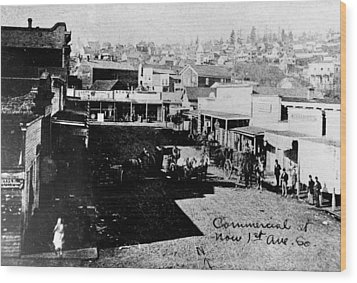 Wood Print featuring the photograph Seattle, Washington, 1880s by Granger